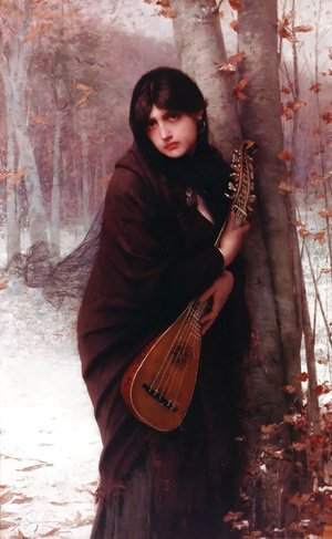 Jules Joseph Lefebvre - Girl with a Mandolin