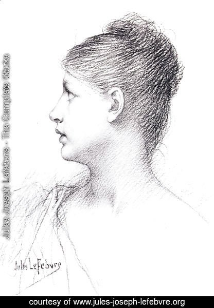 A lady in profile