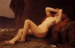 Jules Joseph Lefebvre - Mary Magdalene In The Cave